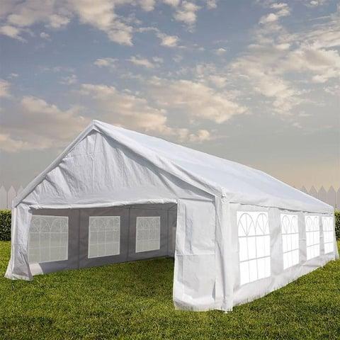 Zenova 13'x26' Heavy Duty Outdoor Gazebo Wedding Party Tent Canopy Shelter
