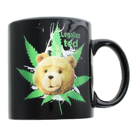 Ted 2 Legalize Ted 12oz Foil-Printed Ceramic Coffee Mug - Multi