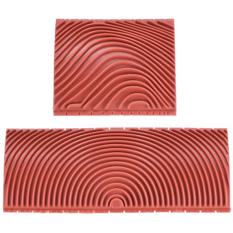 "Wood Graining Rubber Grain Tool Pattern Wall Art Painting DIY Red MS3 2Pcs - MS3 3+6"" 2in1 Set"
