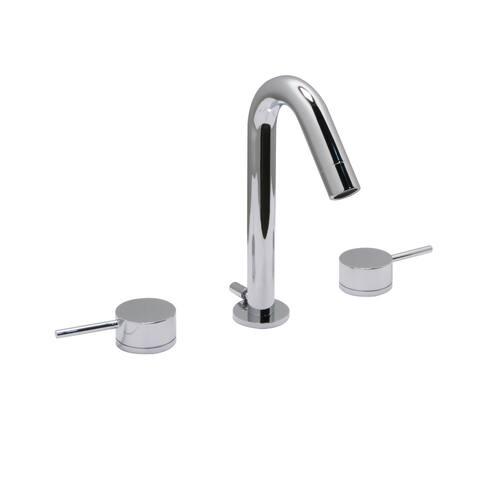 "Euro 8"" Widespread Bathroom Faucet, Chrome Finish - 8"" widespread"