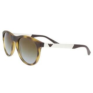 Emporio Armani EA4084 5089T5 Havana/Silver Round Sunglasses - 56-20-145