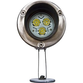 Stainless Steel Directional LED Spot Light with Hood, Stainles