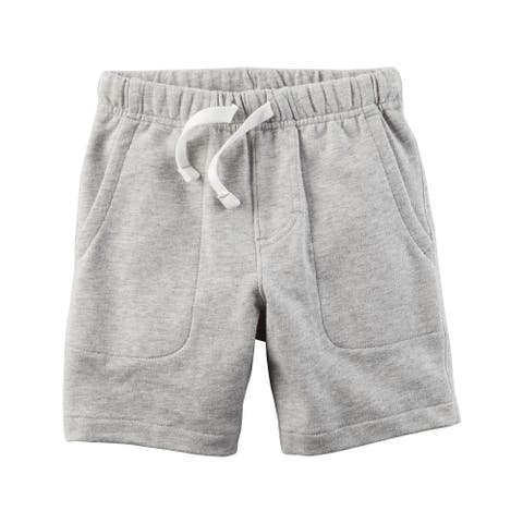 Carter's Boys' French Terry Shorts - Heather- 12 Months