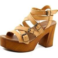 Musse & Cloud Malena Women  Open Toe Leather  Platform Sandal
