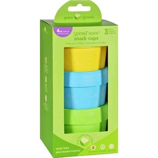Green Sprouts Snack Cups, Sprout Ware 6 Months Plus Aqua Assorted - 3 Pack