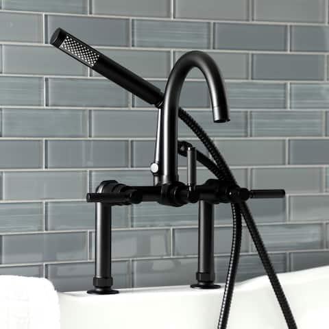 Kaiser 7-Inch Deck Mount Clawfoot Tub Faucet