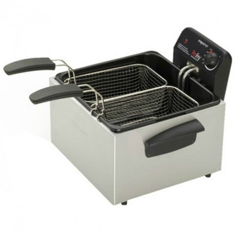 Presto 05466 Dual Basket ProFry Immersion Element Deep Fryer, Stainless Steel