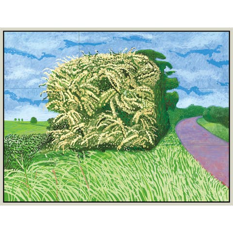 """Haystack by David Hockney Giclee Print Oil Painting Silver Frame Size 18"""" x 14"""""""