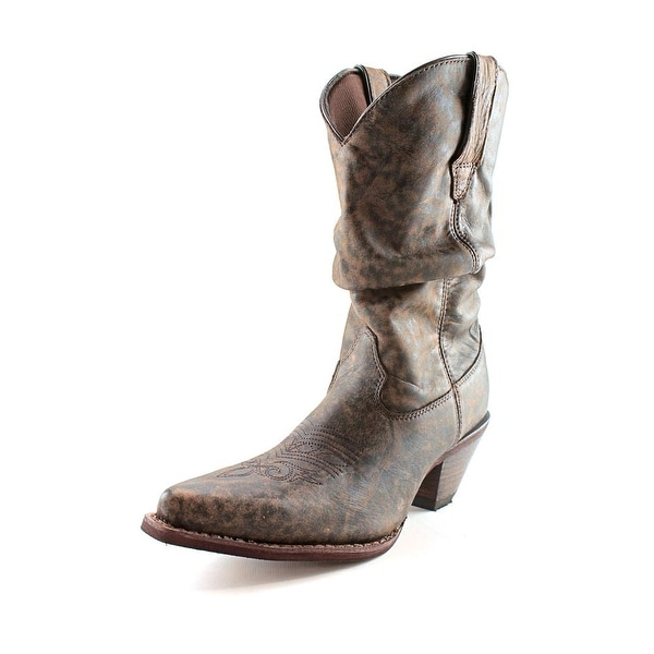 Durango RD3553 Women Pointed Toe Leather Brown Western Boot