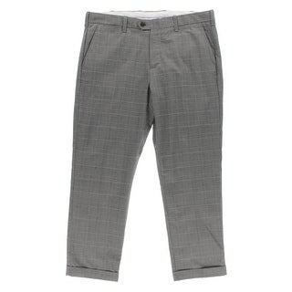 Tommy Hilfiger Mens Cotton Plaid Dress Pants