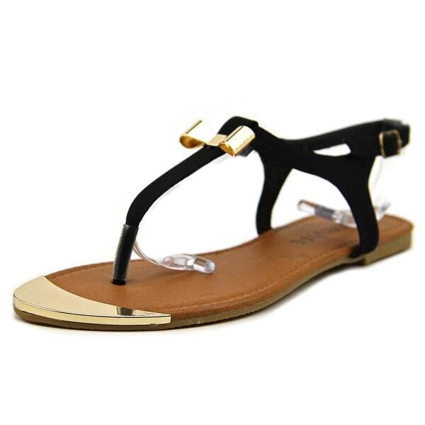 ShoeVibe Milan Women  Open Toe Synthetic Black Thong Sandal