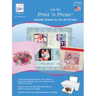 "White - Print 'N Press Iron-On Transfer Paper 8.5""X11"" 3/Pkg"