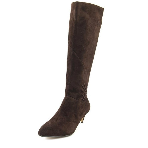 Nina Yippee Women Pointed Toe Suede Brown Knee High Boot