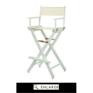 230-02-021-12 30 in. Directors Chair Black Frame with Natural &