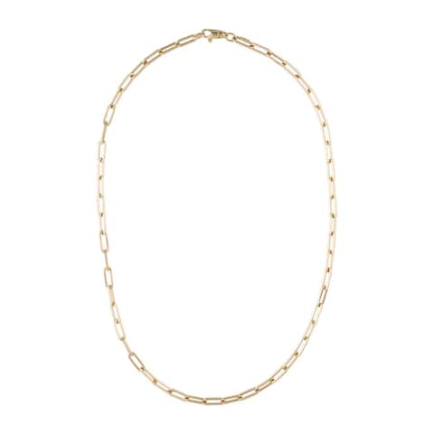 Gold Link Chain Necklace 14k Gold Made in Italy 3.4mm 6.4 grams by Joelle Collection