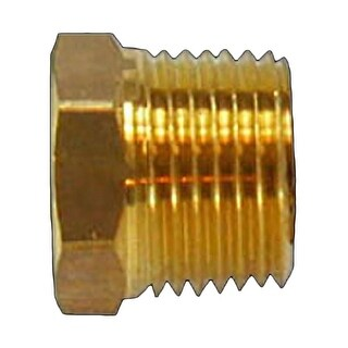 Reducing Bushing 1/2 Male 3/8 Female Solid Brass