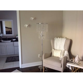 Chrome and Crystal Floor Lamp