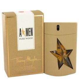 Angel Pure Wood by Thierry Mugler Eau De Toilette Spray 3.4 oz - Men
