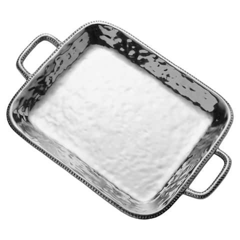 Wilton Armetale River Rock Large Rectangular Tray With Handles