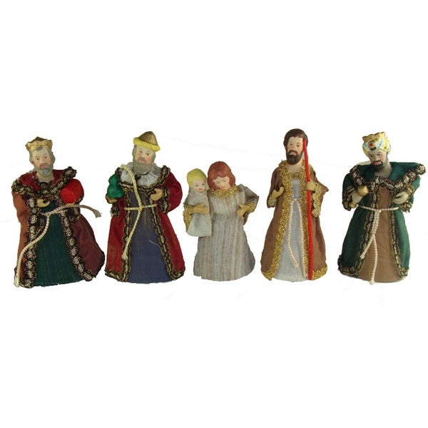 Club Pack of 120 Holy Family & Wise Men Christmas Nativity Figurines - multi