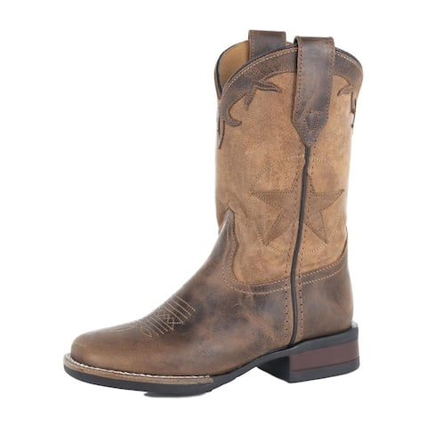 Roper Western Boots Boys Monterey Pull On Brown