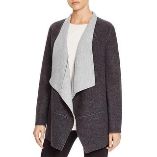 Eileen Fisher Womens Jacket Asymmetric Seamed - l