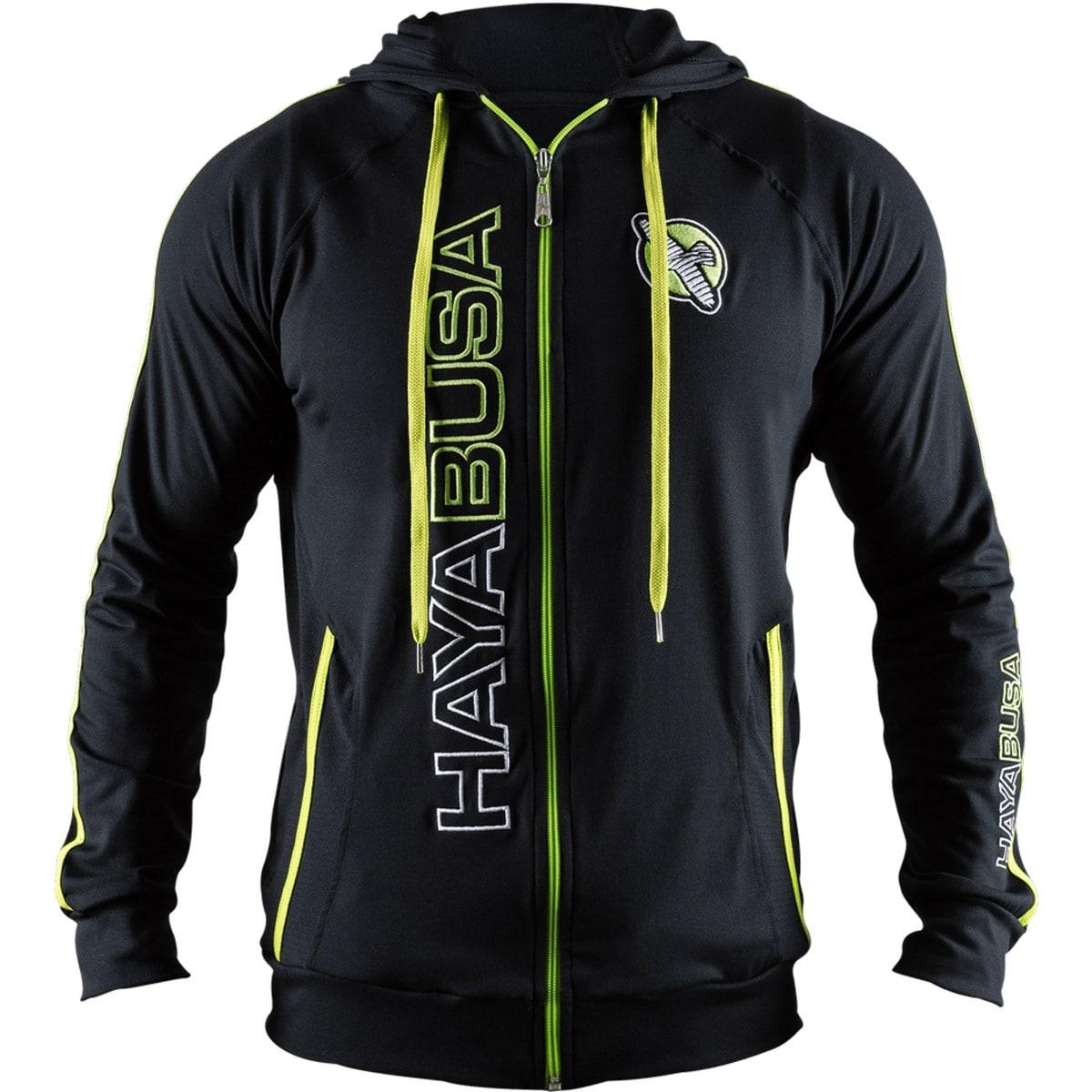 Hayabusa Prime Zip Up Hoodie Black//Green