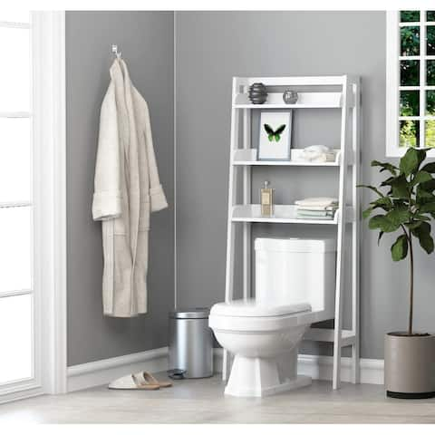 UTEX-Bathroom Shelf Storage Cabinet Over the Toilet,Collection Spacesaver