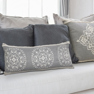 Link to Casual Mandala Medallion Lumbar Pillow with Tufted Border Similar Items in Decorative Accessories