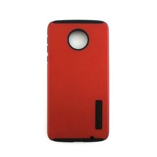 Incipio DualPro Shock-absorbing Case for Moto Z Droid - Iridescent Red/Black