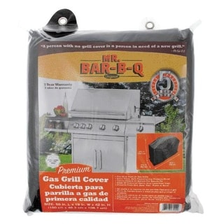 "Mr. Bar-B-Q 07004XEF Premium Gas Grill Cover, Medium, 59""x19""x42"""