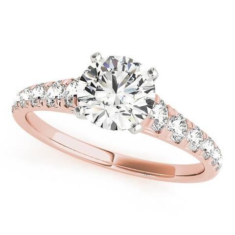 Auriya 14k Gold 1 4/5ctw Classic Moissanite Engagement Ring