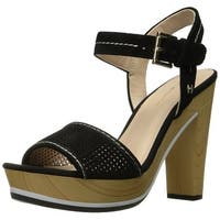 Tommy Hilfiger Womens Weslee Leather Open Toe Casual Slingback Sandals