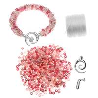 Refill - Beaded Kumihimo Bracelet - Pink Tones - Exclusive Beadaholique Jewelry Kit