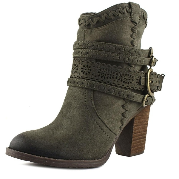 Not Rated Kandinsky Women Round Toe Canvas Ankle Boot