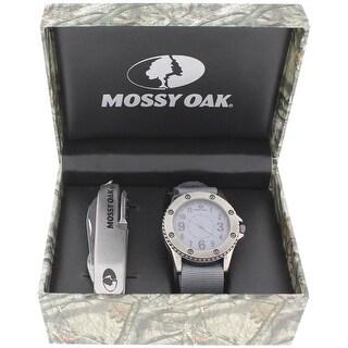 Mossy Oak Mens Wristwatch Water Resistant Analog - Grey