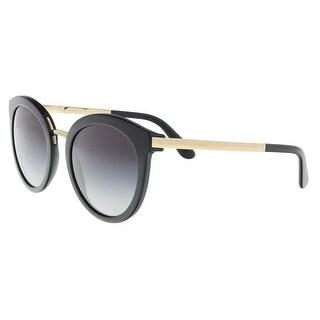 Dolce & Gabbana DG4268 501/8G Black Cat Eye Sunglasses - 52-22-140