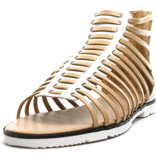 Calvin Klein Maze Open Toe Leather Gladiator Sandal
