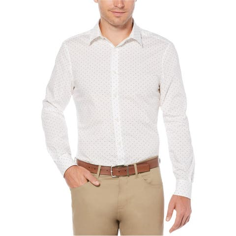 Perry Ellis Mens Mini-Geo Button Up Shirt