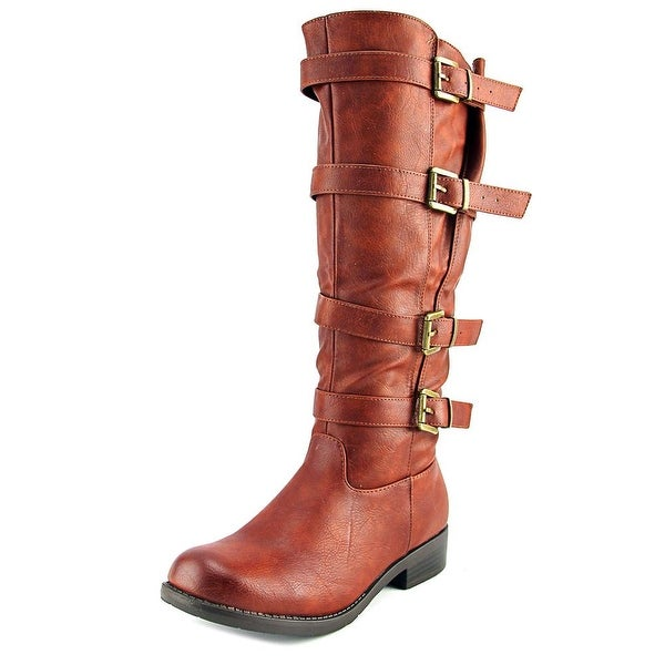 Kisses By 2 Lips Too Too Jenny Women Round Toe Synthetic Knee High Boot