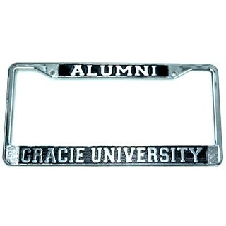 Gracie Jiu-Jitsu University Alumni Chrome License Plate Frame