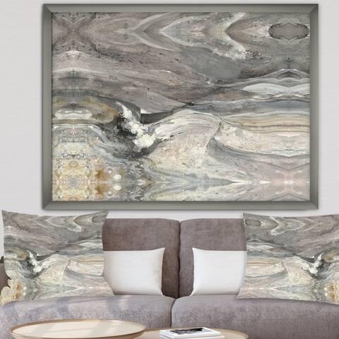 Designart 'Natural earth tone' Modern & Contemporary Premium Framed Art Print