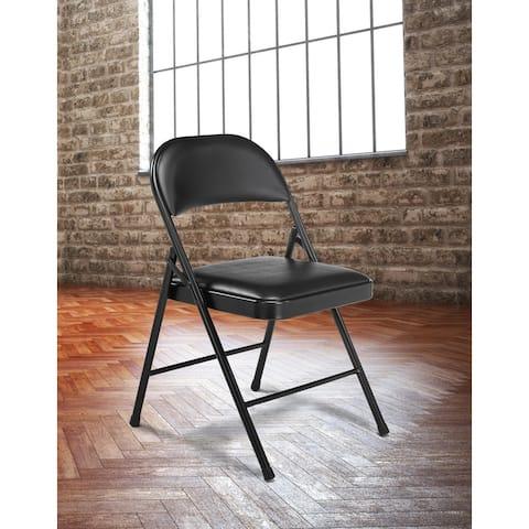 (4 Pack) Commercialine Vinyl Padded Folding Chair