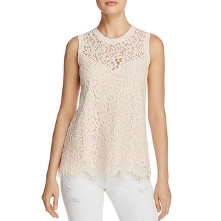 Generation Love Womens Casual Top Lace Illusion