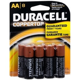 Duracell Coppertop AA Alkaline Batteries 1.5 Volt 8 Each