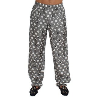Dolce & Gabbana Silver SILK Pajama Lounge Pants - M