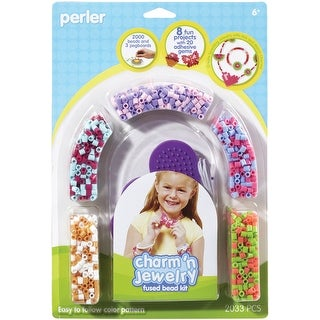 Perler Fused Bead Kit-Charm 'n Jewelry