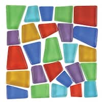 Mosaic Mercantile Glass Crafter's Cut Irregular Mosaic Tile, 3/4 - 3/8 in, Assorted Color, 3 lb