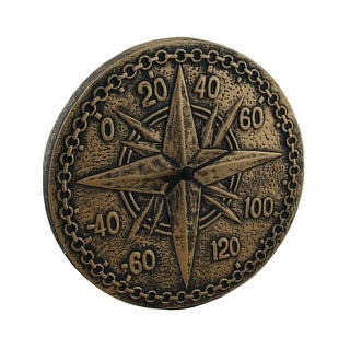 Bronze Finish Terracotta Compass Rose Wall Thermometer