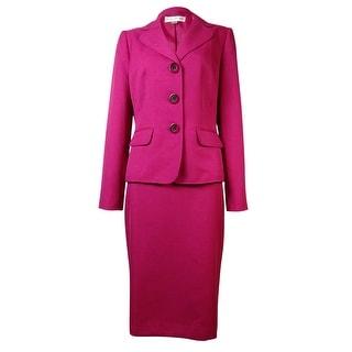 Evan Picone Women's Park Avenue Notch Flap Pocket Skirt Suit